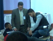Within partnership with PMRS .. Al Khayria Cultural center closes First Aid training
