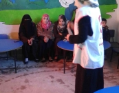 The team of Rafah Health center implements bedwetting workshop